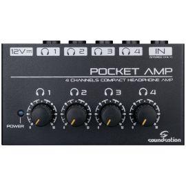 Soundsation Pocket-Amp - Amplificator Casti 4 Perechi - Music and More